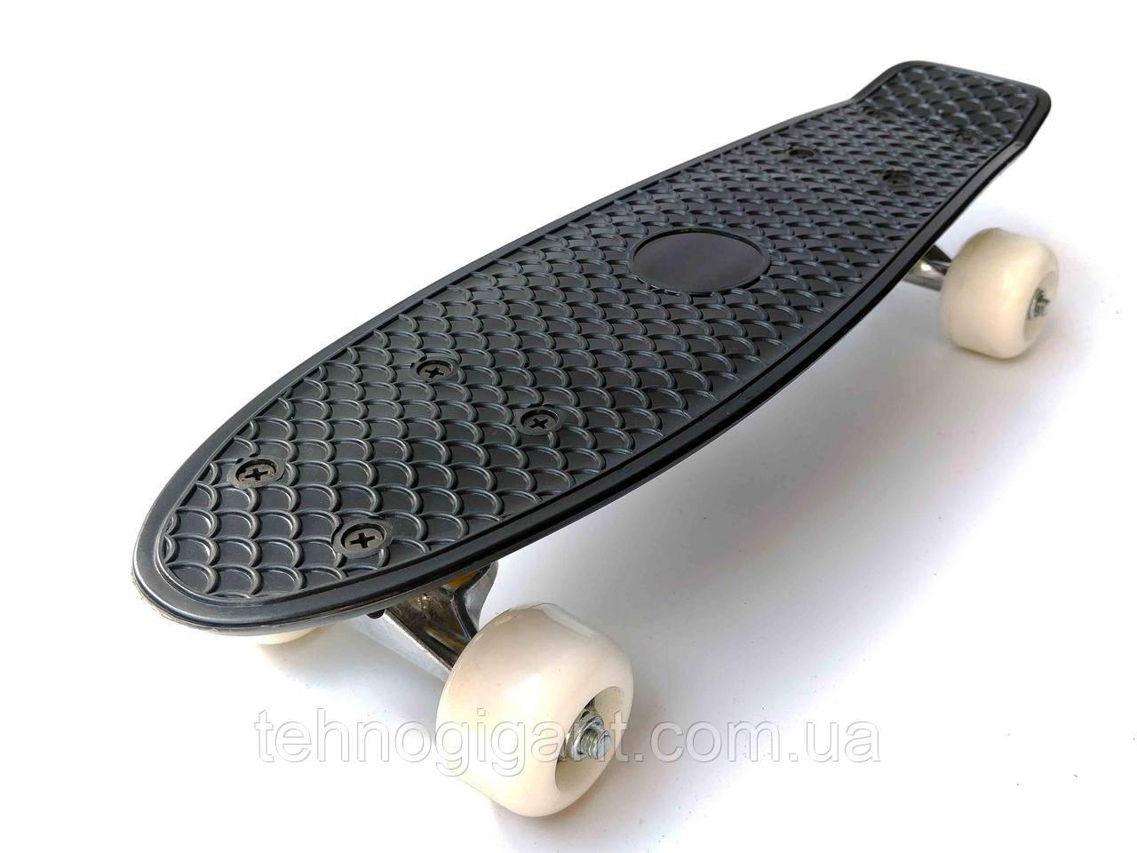 Скейт Penny Board mini, Пенни борд мини, для самых маленьких, от 2 лет, Цвет Черный