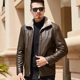 Мужская кожаная куртка. Модель 18140