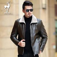 Мужская кожаная куртка. Модель 18140, фото 2