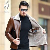 Мужская кожаная куртка. Модель 18140, фото 4