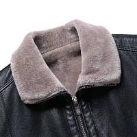 Мужская кожаная куртка. Модель 18140, фото 5