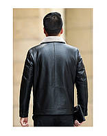 Мужская кожаная куртка. Модель 18140, фото 9