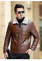 Мужская кожаная куртка. Модель 18140, фото 10