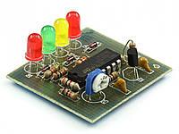 Радиоконструктор светодиодный индикатор уровня напряжения RadioKit K126