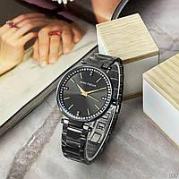 Стильные часы женские наручные модные водонепроницаемые на браслете Mini Focus MF0031L.02 All Black Оригинал
