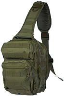 Тактический однолямочный рюкзак Mil-tec 10 литров олива