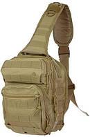 Тактический однолямочный рюкзак Mil-tec 10 литров койот