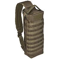 Тактична однолямочная сумка-рюкзак Mil-tec Танкер15 літрів олива, фото 1