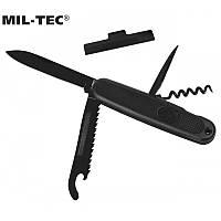 Армійський кишеньковий ніж-мультитул BW Mil-tec 4 предмета чорний