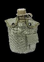 Фляга NATO пластиковая Mil-tec 1 литр в чехле цвет олива