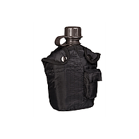 Фляга NATO пластиковая Mil-tec 1литр в чехле черная