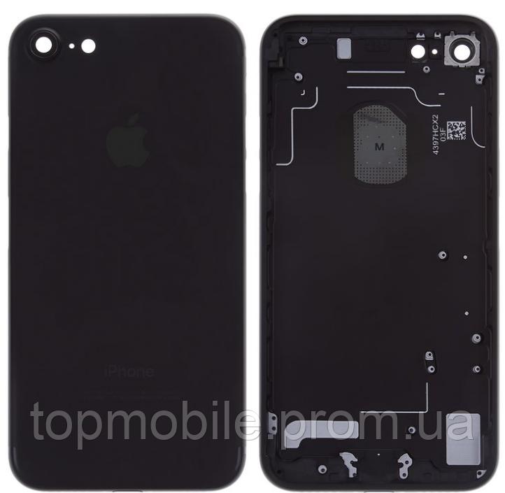 Корпус для iPhone 7, черный, матовый, Black Matte, копия высокого качества