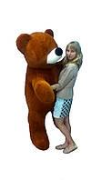 Мягкие игрушки Большой плюшевый медведь 180 см коричневый