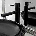 Смеситель кран для раковины умывальника Rea Tess Black REA-B0229 черный, фото 3