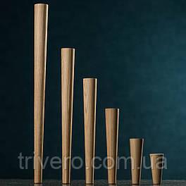 Ножки для мебели конусные, опоры деревянные H.100-600 D.45-25