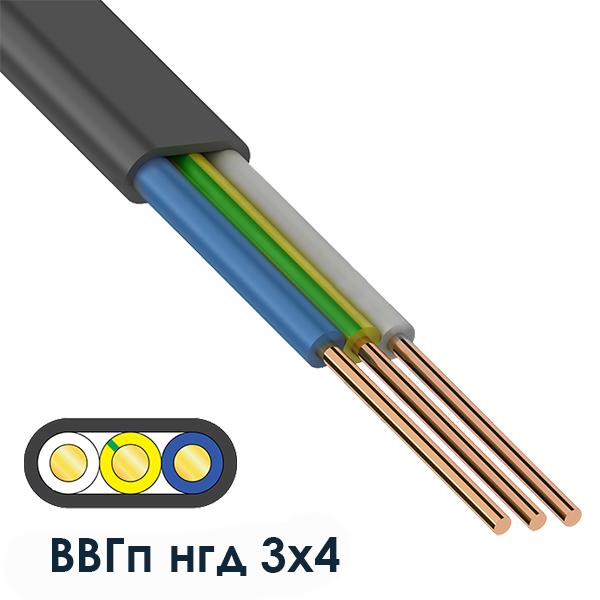 Силовий кабель ВВГп нгд 3х4