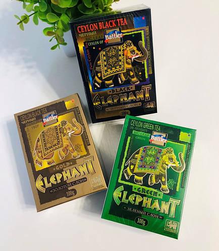 Чай  Battler Elephant 100g Зелёный Чёрный Black