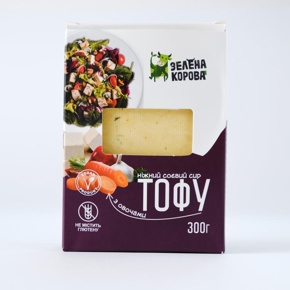 Тофу з овочами 300г ТМ Зелена корова