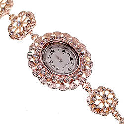 Кварцові годинники SONATA, білі фіаніти, позолота РВ, 95998 (1)