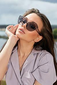 Солнцезащитные серые женские очки кошачий глаз (1372.4157 svt)