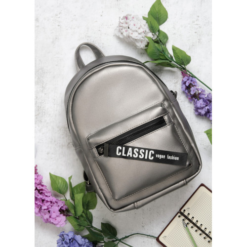 Рюкзак из экокожи Cambag Talari MSTa silver dark