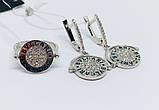 Двосторонній родированый комплект в сріблі Бренд, фото 3