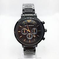 Часы мужские наручные Emporio Armani (Эмпорио Армани), черные ( код: IBW375B ), фото 1