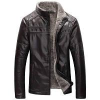 Мужская кожаная куртка. Модель 18136, фото 5
