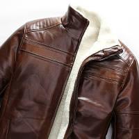 Мужская кожаная куртка. Модель 18136, фото 6
