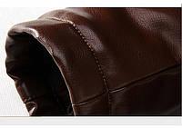 Мужская кожаная куртка. Модель 18136, фото 7