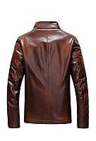 Мужская кожаная куртка. Модель 18136, фото 8