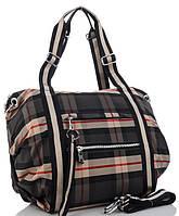Жіноча тканинна сумка 6231 grey Тканинні сумки недорого, текстильні сумки