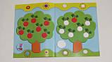 Детская книга развивающие наклейки для малышей украинский язык цветы 5032, фото 2