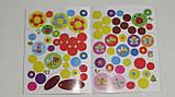 Детская книга развивающие наклейки для малышей украинский язык цветы 5032, фото 3