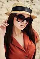 Квадратные солнцезащитные коричневые женские очки (1374.4160 svt)