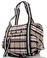 Жіноча тканинна сумка 6231 beige Тканинні сумки недорого, текстильні сумки