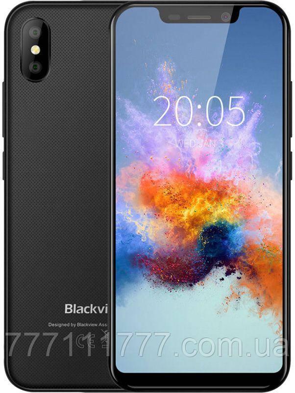 Смартфон блеквью черный с большим экраном на 2 sim Blackview A30 black 2/16 гб