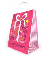 Подарочный пакет, бумага крафт, 22х29x14 см