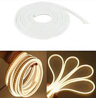 Гибкая неоновая светодиодная лента NEON LED 2835 (120 светодиодов/метр) Теплый белый