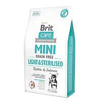 Сухой корм Brit Care GF Mini Light & Sterilised для собак миниатюрных пород 2 кг