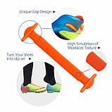 Ледачі шнурки силіконові для взуття, дитячі, пара, фото 3
