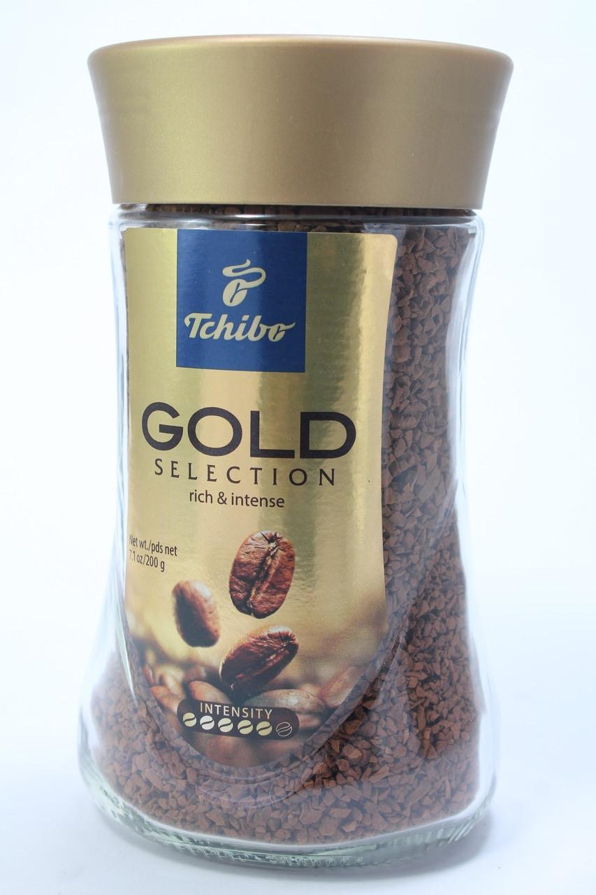 Кофе растворимый Tchibo Gold Selection 200 г в стеклянной банке Германия