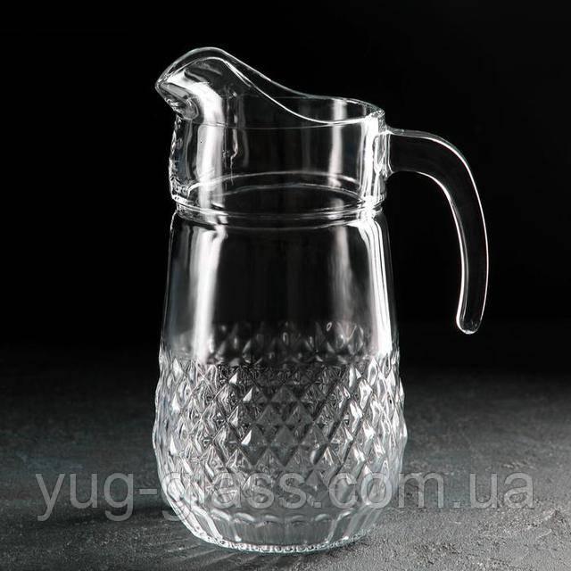 Глечик скляний з кришкою 1,5 л