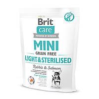 Сухой корм Brit Care GF Mini Light & Sterilised для собак миниатюрных пород  400 г