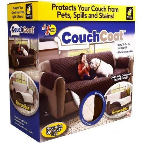 Накидка на диван, покрывало Couch Coat Lux двустороннее