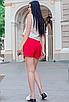 """Обалденная стильная женская юбка-шорты из софта больших размеров """"Мюриэл"""", фото 5"""