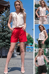 """Классные летние женские короткие шорты больших размеров """"Клайм"""""""