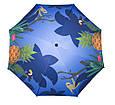 Зонт пляжний посилений | 1.8 м. Синій, ананаси - великий складаний парасолька на пляж, фото 2