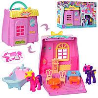 Домик игрушечный раскладной с аксессуарами 17-17-8см
