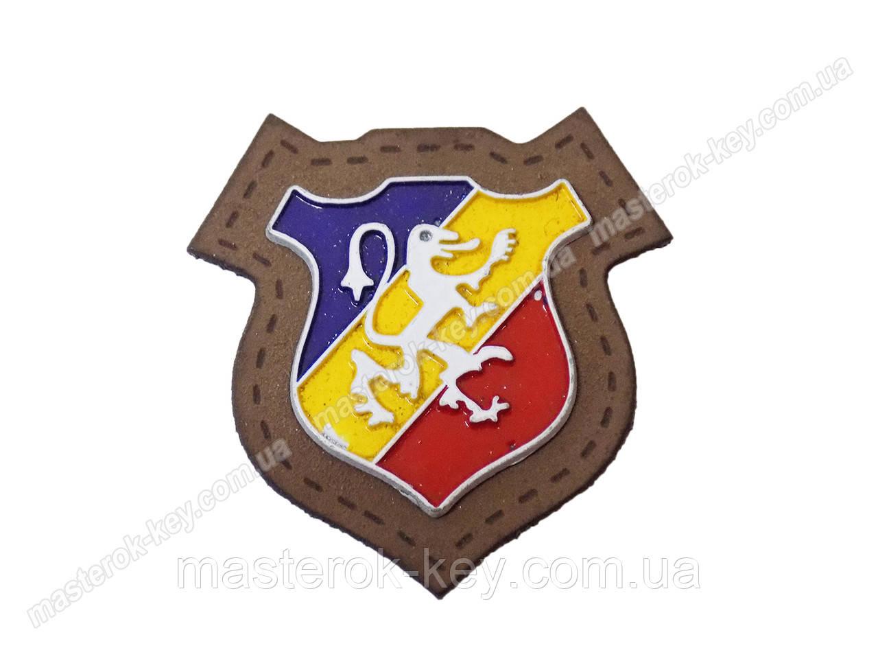 Герб пришивной №013072 коричневый